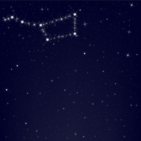 Dark Blue Sky With Constellation Of Ursa Major, Vector Illustration  Stock Vector - 8115198