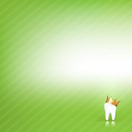 dolor de muelas: Dental fondo verde con dientes, ilustraci�n vectorial