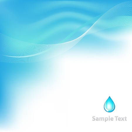 water  pure: Water Background With Drop, Vector Illustration