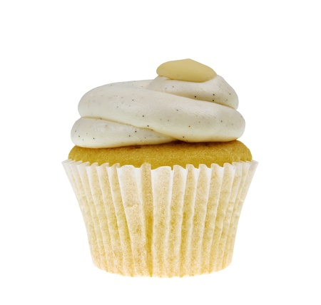 Cupcake On White With Cream Stock Photo - 8361500