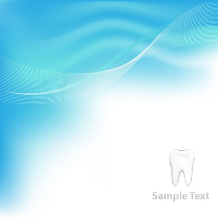 carious: Blue Dental Background With Tooth
