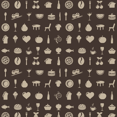 Restaurant Background With Icons, Vector Illustration Stock Vector - 8490078