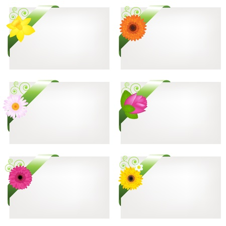6 Blank Gift Tags, Isolated On White Background, Illustration Vector