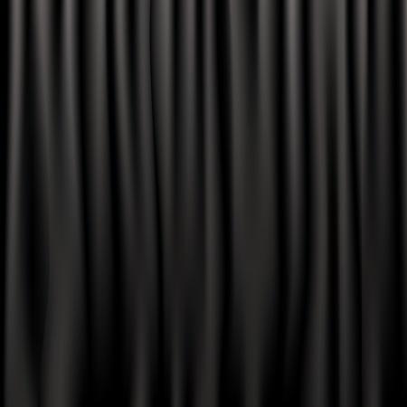 telon de teatro: Cortinas de seda negro, ilustraci�n vectorial Vectores