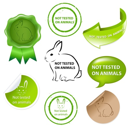 Not Tested On Animals, Isolated On White Background, Vector Illustration  Vector