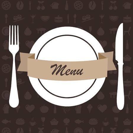 cherry pie: Restaurant Menu, Vector Illustration