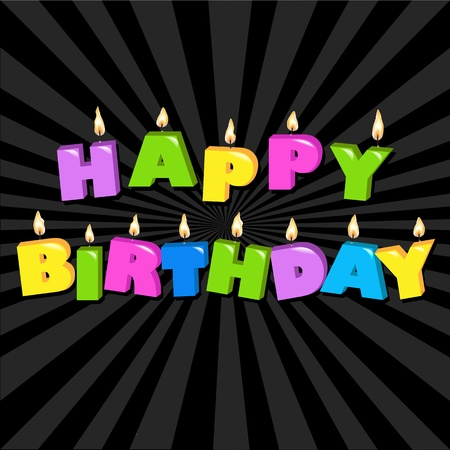 happy feast: Birthday Illustration Design