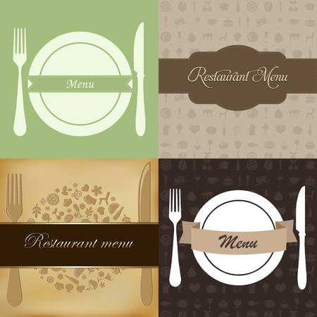 Restaurant Menu Set, Vector Illustration