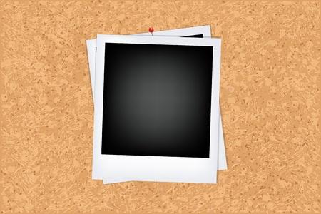 memory board: Junta de corcho con foto, ilustraci�n vectorial