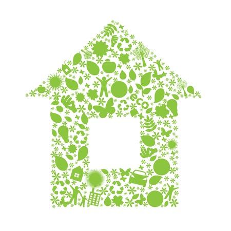 earth friendly: C�mara de eco, aisladas sobre fondo blanco, ilustraci�n vectorial  Vectores