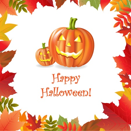 trick or treat: Happy Halloween, Vector Illustration
