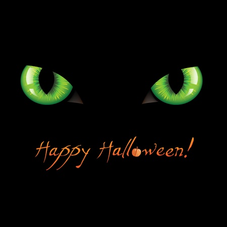 ojos caricatura: Feliz Halloween, ilustración vectorial