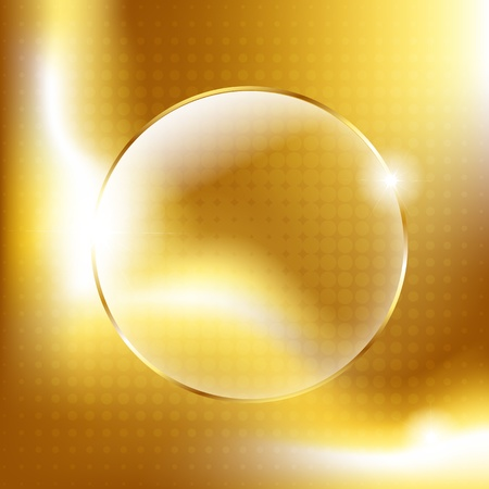 Gold Background With Gold Glass Balls, Vector Illustration Vector