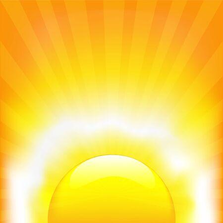 sunstroke: Shining Sun, Vector Illustration