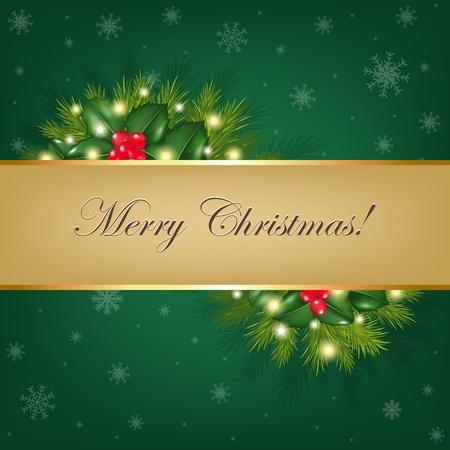 campanas de navidad: Antecedentes de Navidad con árboles de piel, Ilustración Vectorial Vectores