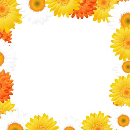 Gerbers Frame, Isolated On White Background, Vector Illustration   Vector