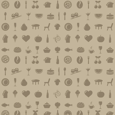 Restaurant Background, Vector Illustration   Vector