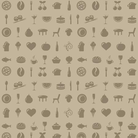 dessert fork: Restaurant Background, Vector Illustration