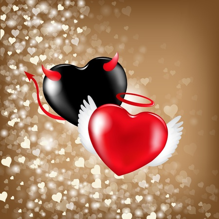 Valentines Background With Hearts, Vector Illustration  Vector