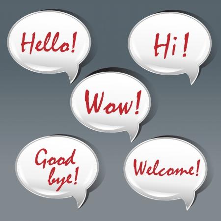 bye: Bubble Speech Shape With Text