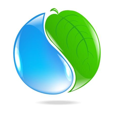 plantes aquatiques: Eco Symbole Illustration