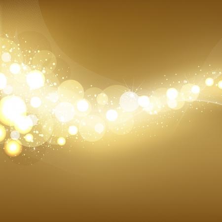 Golden Festive Lights Elegant Background Stock Vector - 14230362