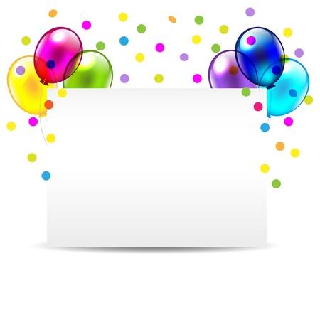 Birthday Invitation Card For Congratulations Vector Illustration