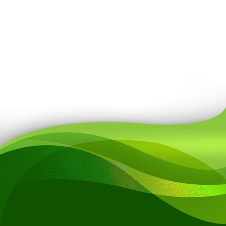 Green Nature Abstract Background With Lines, Vector Illustration Stock Vector - 14395169