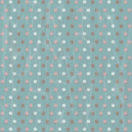 Blue Vintage Background In Peas, Vector Illustration Vector