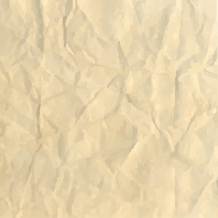 crushed: Sheet Crushed Paper, Abstract Background, Vector Illustration Illustration