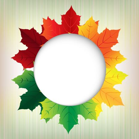 Autumn Leaves With Speech Bubble Illustration Vector