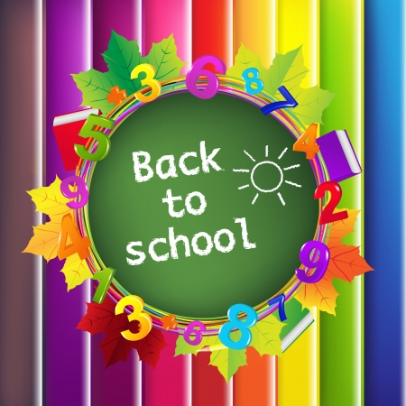 primary school: Back To School Color Background Illustration