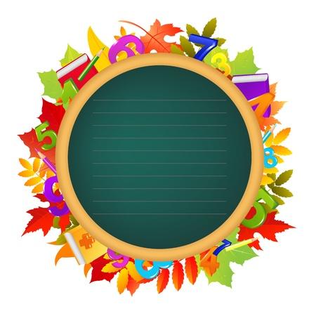 ni�os con l�pices: Volver a la ilustraci�n de fondo Escuela color Vectores
