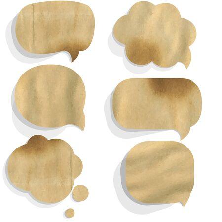 proclaim: Cardboard Paper Speech Bubble, Isolated On White Background Illustration Illustration