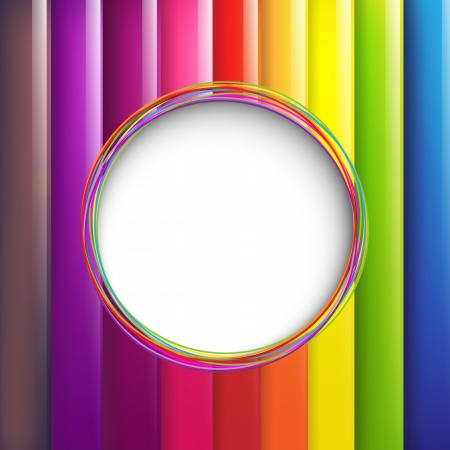rainbow colours: Colorful Background With Speech Bubble Illustration