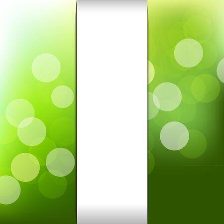 luminous: Green Nature Background With Bokeh Illustration
