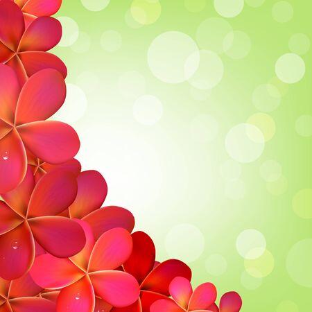 Pink Frangipani Frame With Bokeh Illustration Stock Vector - 15069796