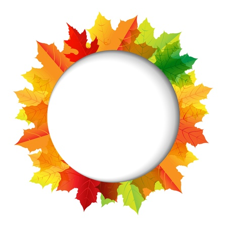 Autumn Composition With Speech Bubble Illustration Vector