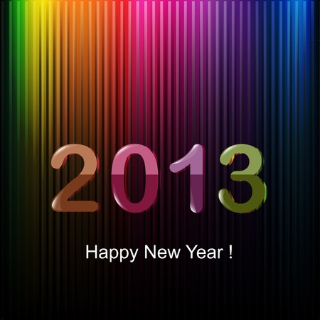 Happy New Year Greeting Card,  Illustration Stock Vector - 15385709