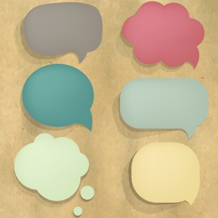 Color Cardboard Structure Speech Bubble Illustration