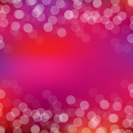 Pink Card With Bokeh And Blur, Illustration Vector