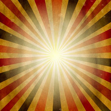 Retro Vintage Square Shaped Sunburst, Illustration Vector
