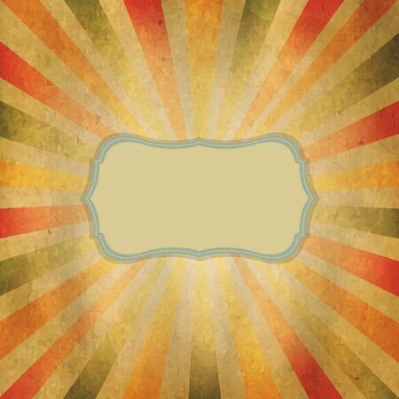 Square Shaped Sunburst With Speech Bubble, Vector Illustration Stock Vector - 15975374