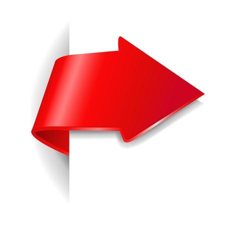 Flecha roja con degradado de malla Ilustración de vector
