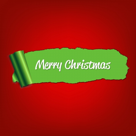 Christmas Green Paper Torn With Gradient Mesh, Vector Illustration Stock Vector - 16449032