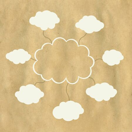 Old Paper And Web Cloud With Gradient Mesh, Vector Illustration Vector