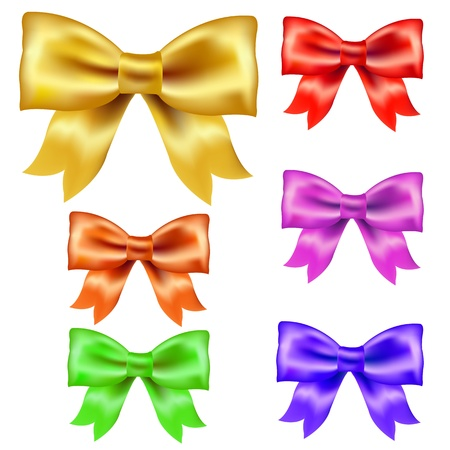 Big Set Color Bow Isolated On White Background With Gradient Mesh Stock Vector - 16816113