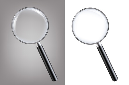 2 Magnifiers, Isolated On White Background With Gradient Mesh