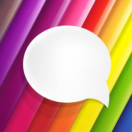 attachments: Color Background With Speech Bubble, Vector Illustration
