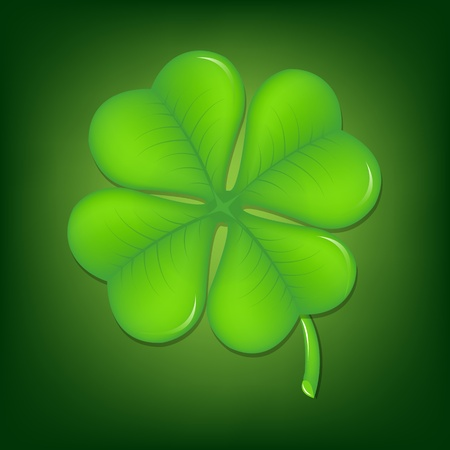 Green Clover With Gradient Mesh, Vector Illustration Stock Vector - 17779073